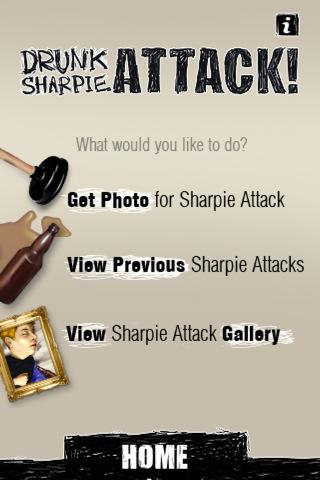 Drunk Sharpie ATTACK! Main Menu