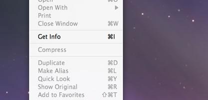 Mac OS X Get Info