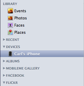 iPhoto - Device Manager